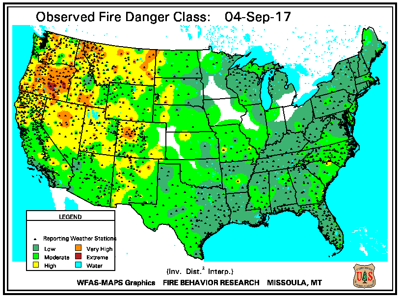 Burnsville Weather LIVE USFS Wildland Fire Assessment System Maps - Us wildland fire potential map