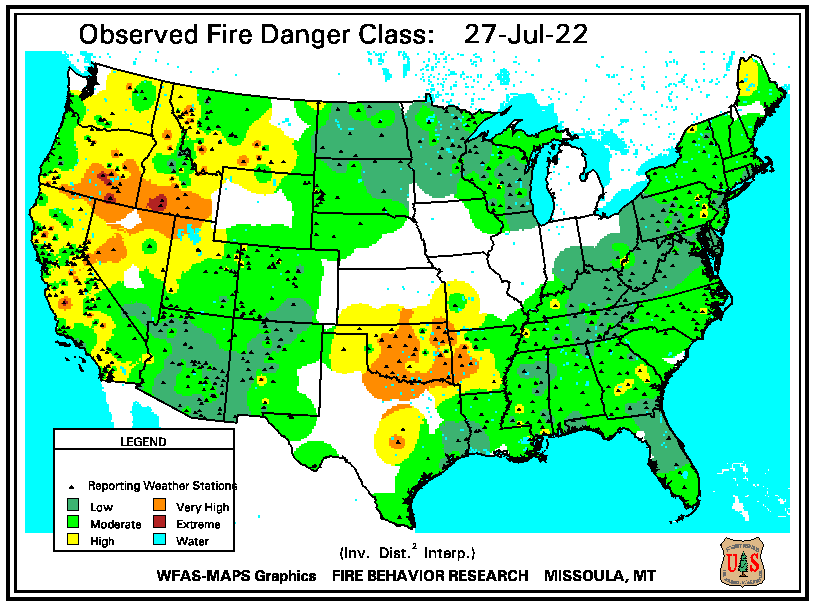 (WFAS Current Fire Danger