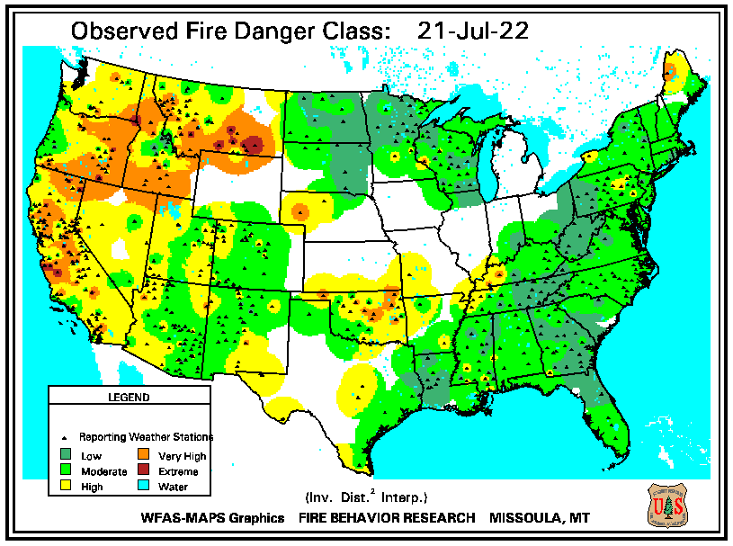 Wildfire Danger Map