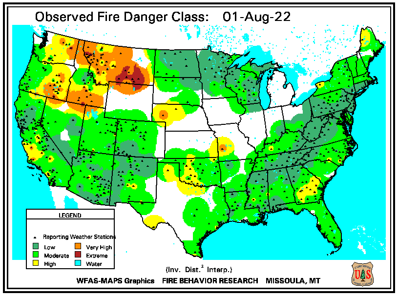 National Fire Danger Class Ratings