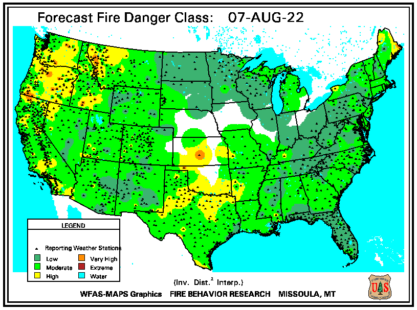 Fire Weather Index for Tomorrow image