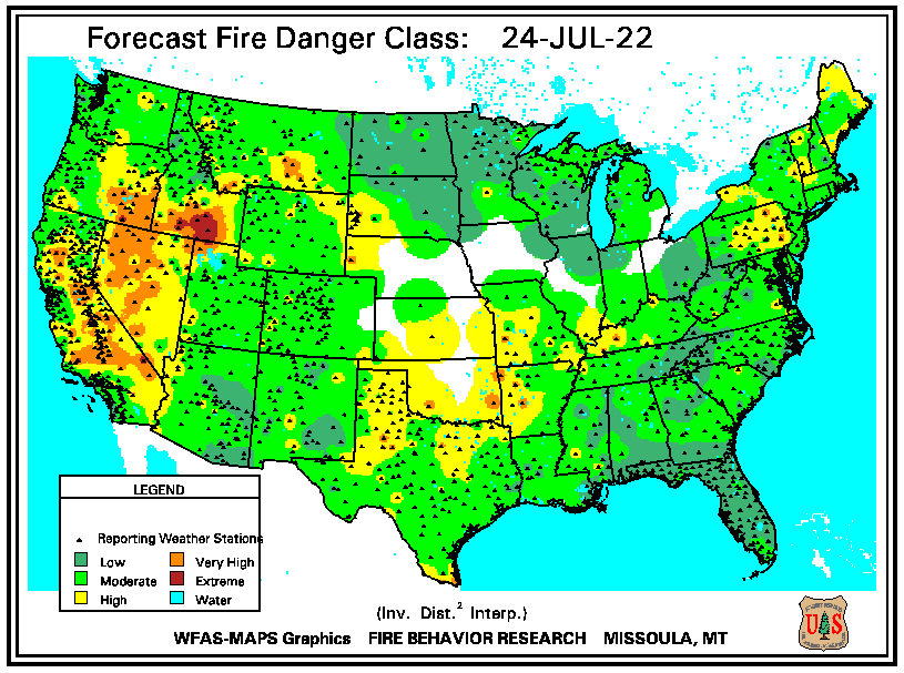 Forecast Fire Danger Rating Map