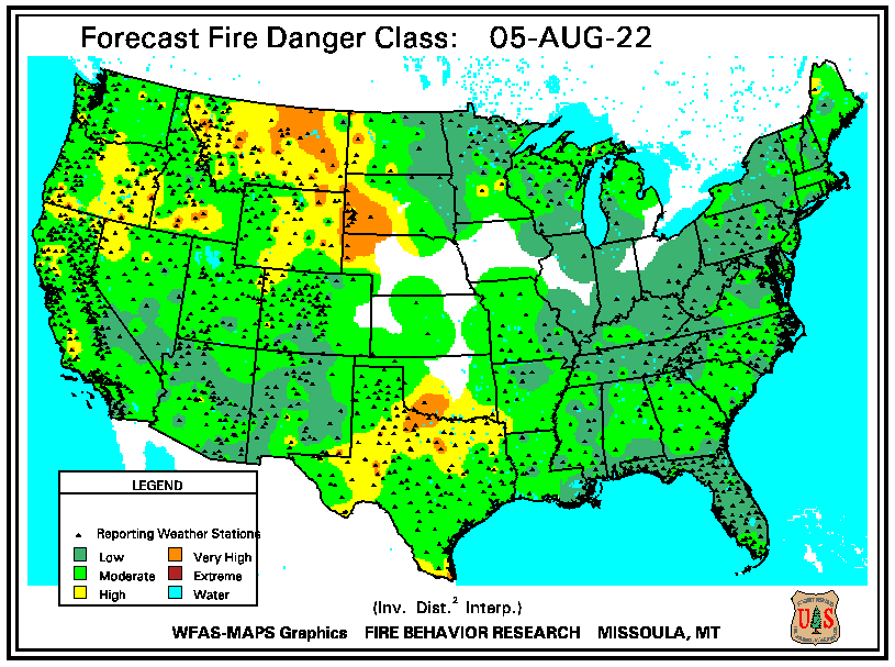 (WFAS) Fire Danger Forecast