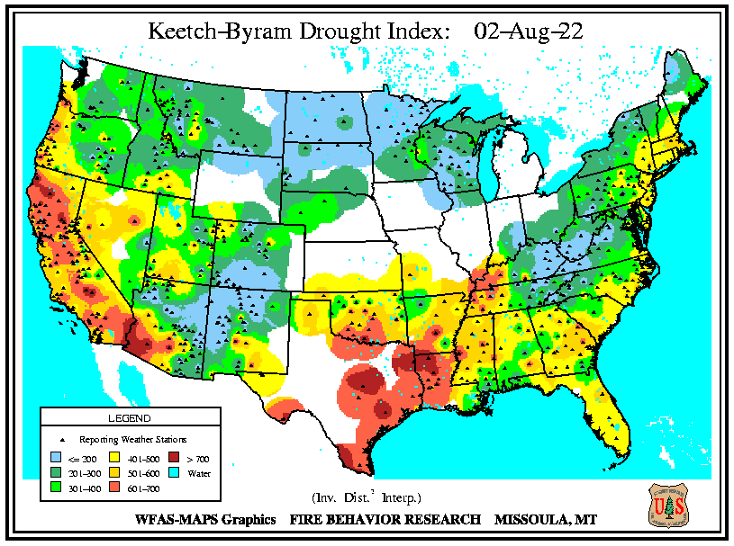 Keetch Byrum Drought Index