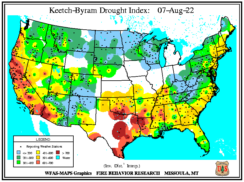 Keetch-Byram Drought Index