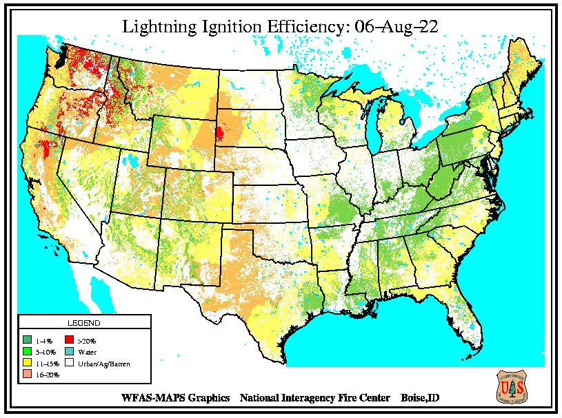 Current Lightning Efficiency Map
