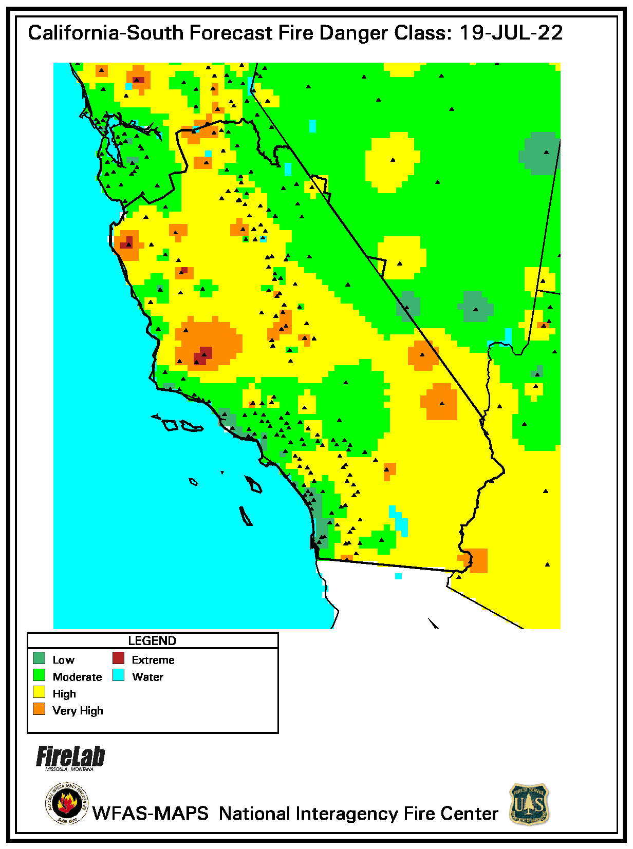 Southern California Fire Danger Forecast