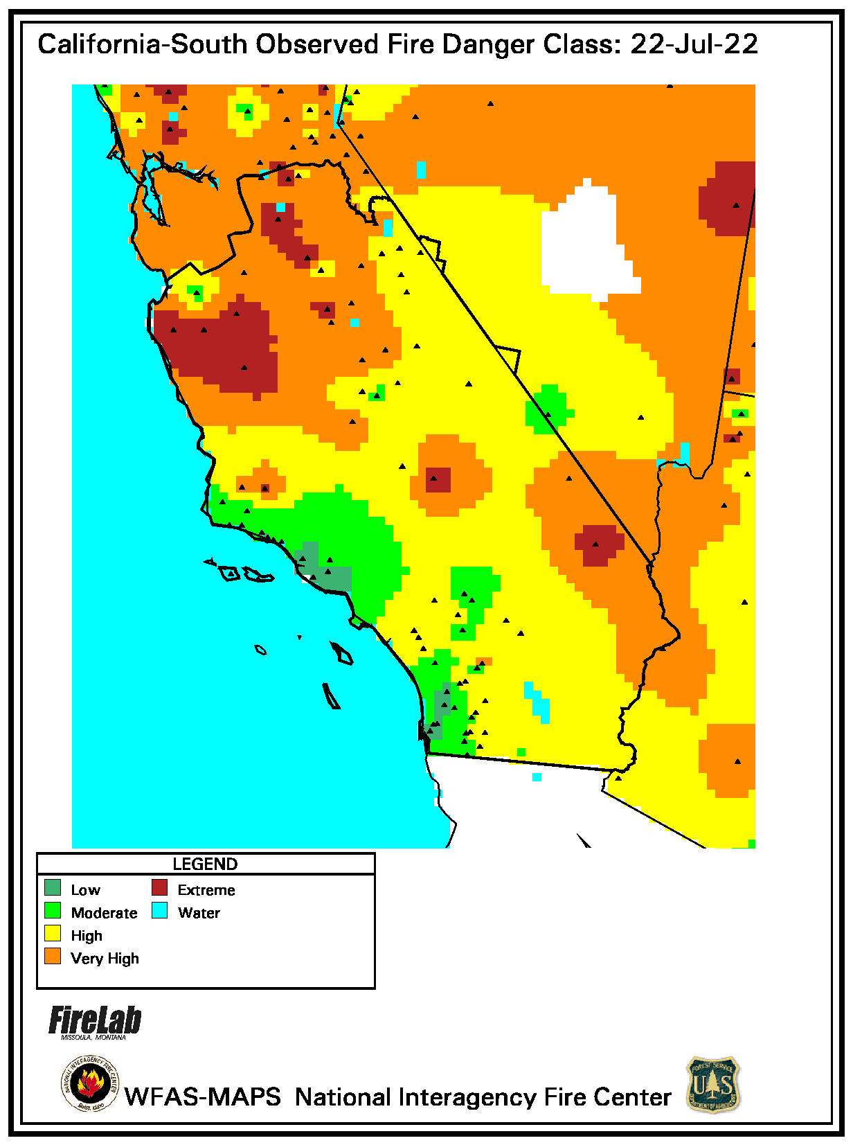 Southern California Observed Fire Danger