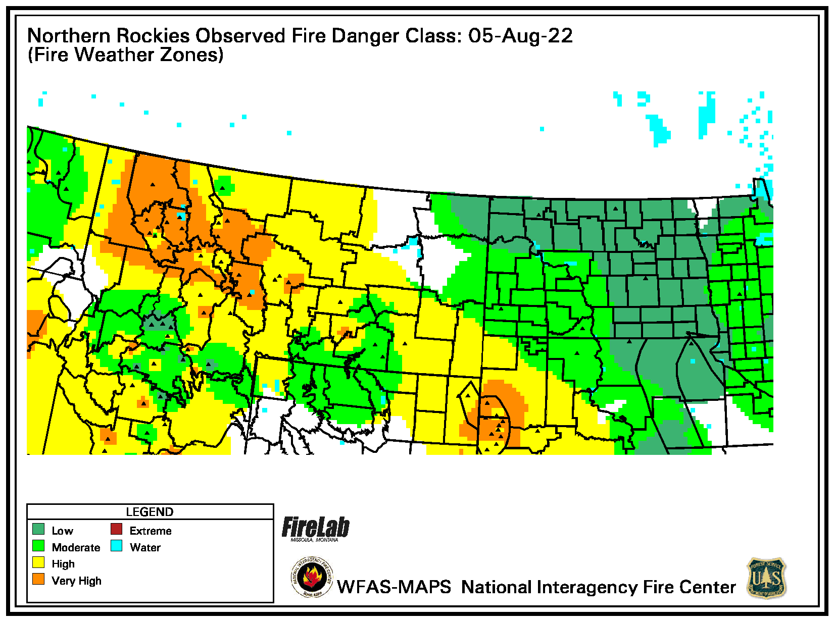 Observed NR Fire Danger Map