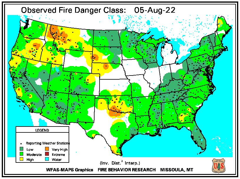 Observed Fire Danger