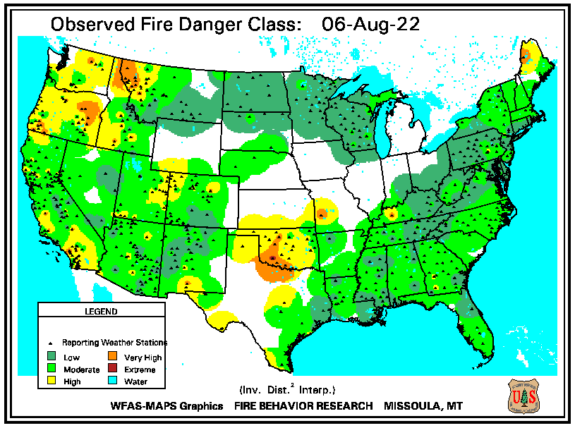 Observed Fire Danger Rating