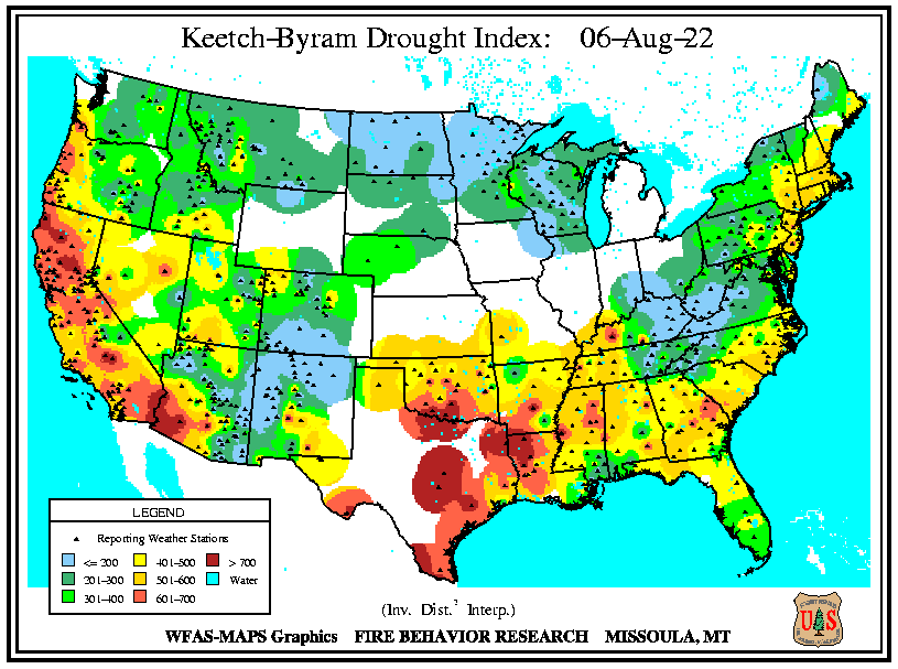 WFAS - Keetch-Byram Drought Index