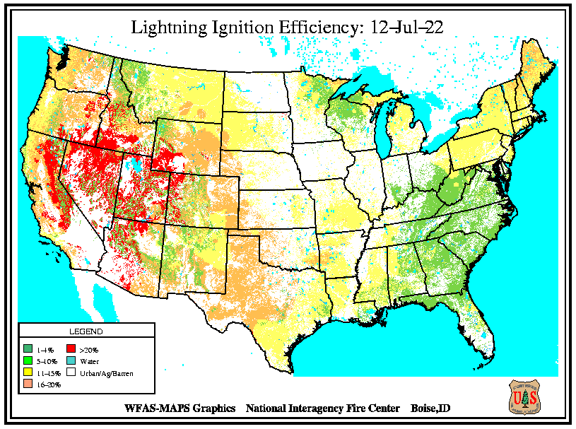 Lightning Ignition Efficiency